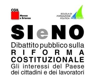 """Monza: """"Si e No - Dibattito pubblico sulla riforma costituzionale"""""""
