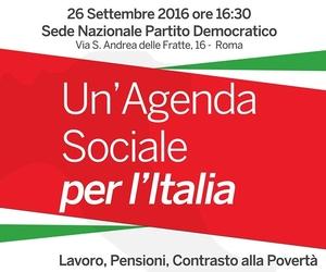Un'agenda sociale per l'Italia - sede del Pd Roma