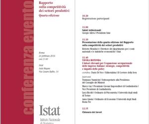Rapporto Istat competitività dei settori produttivi