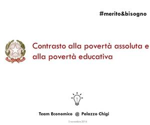 Contrasto alla povertà assoluta e alla povertà educativa