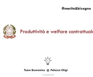 Produttività e welfare contrattuale