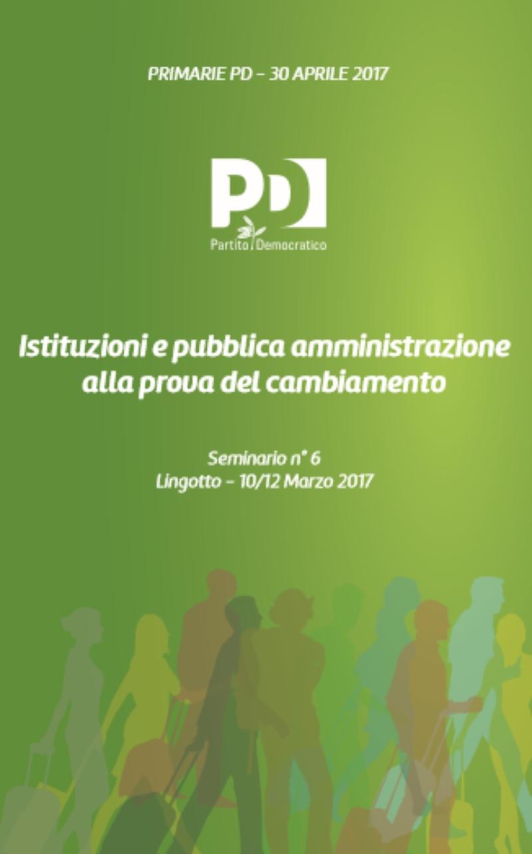 Istituzioni e pubblica amministrazione alla prova del cambiamento