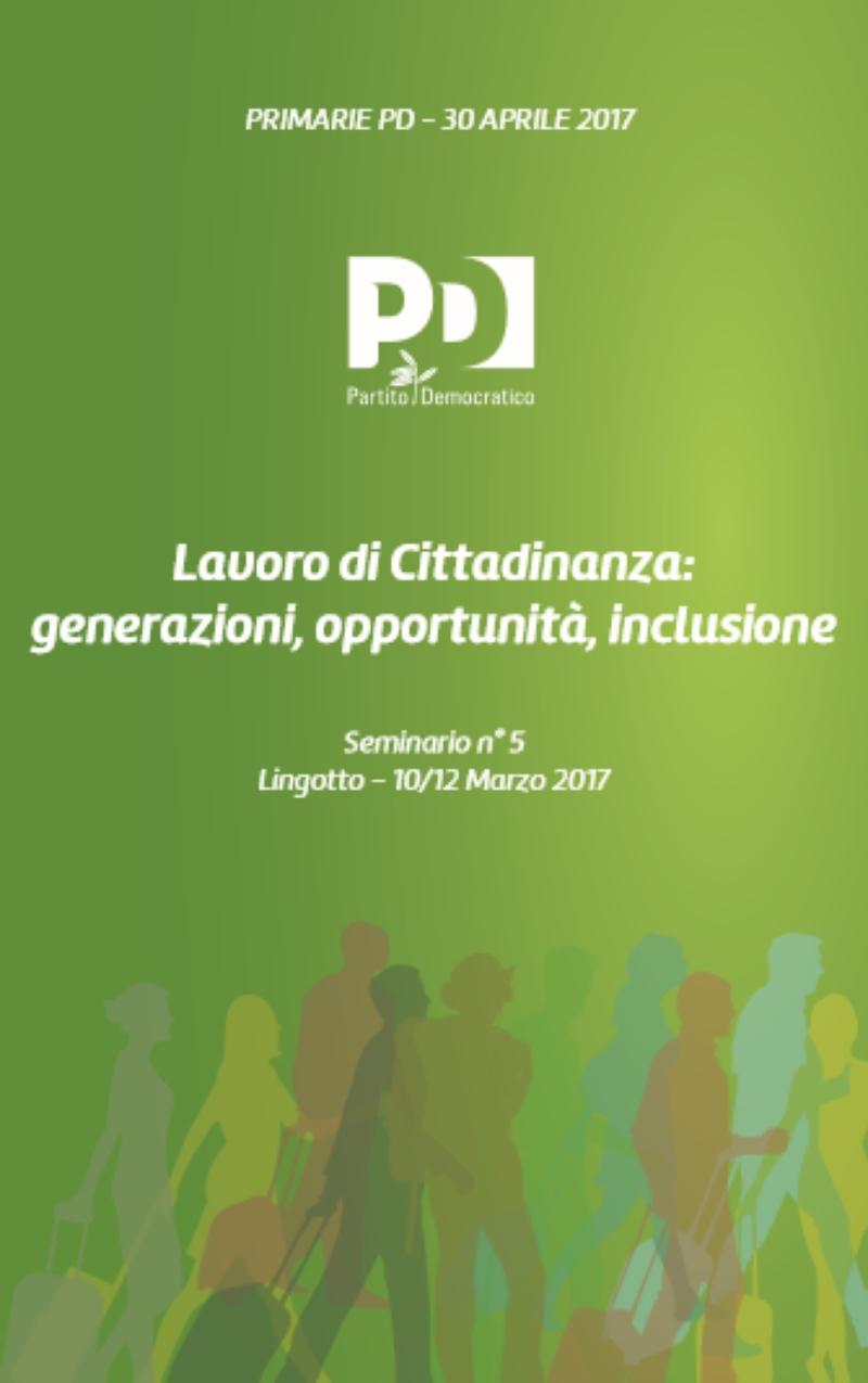 Lavoro di Cittadinanza: generazioni, opportunità, inclusione