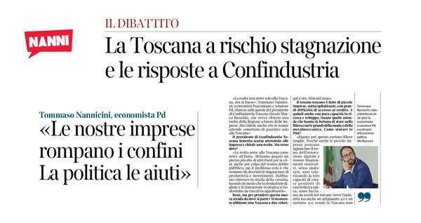 «La svolta non serve solo alla Toscana, ma al Paese».