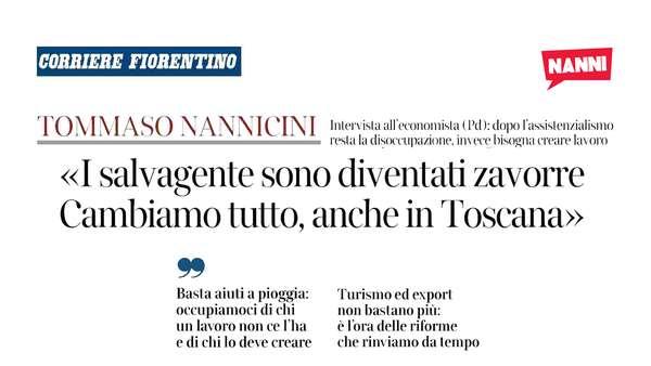 I salvagente sono diventati zavorre. Cambiamo tutto, anche in Toscana.