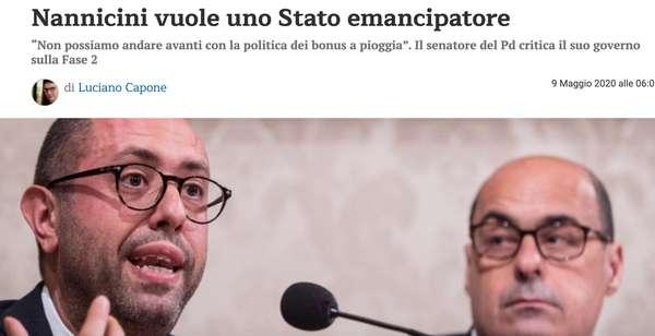 Nannicini vuole uno Stato emancipatore